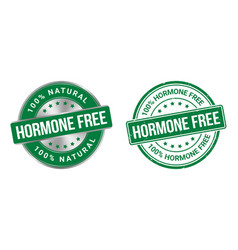 grunge stamp and silver label hormones free vector image
