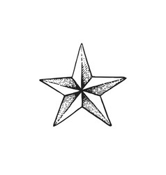Hand drawn star shape vector