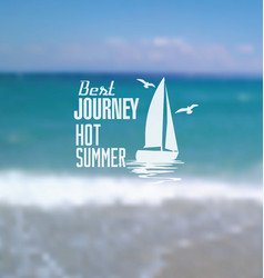 hot summer blur background vector image