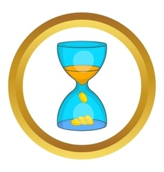 Hourglass time is money icon vector