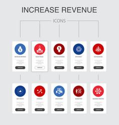 Increase revenue nfographic 10 steps ui design vector