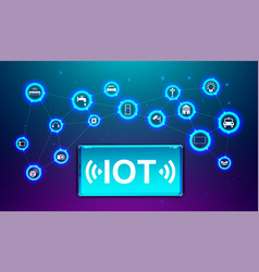 iot internet thing future technology vector image
