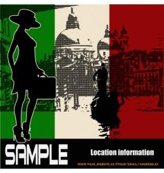 Italian travel flyer vector