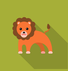 lion flat icon for web and mobile vector image