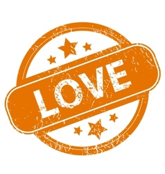 Love grunge icon vector image