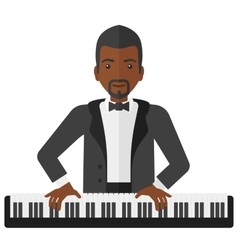 Man playing piano vector