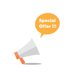 megaphone - bubble special offer vector image