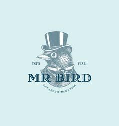 Mr bird logo vector