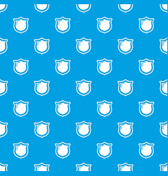 museum shield pattern seamless blue vector image