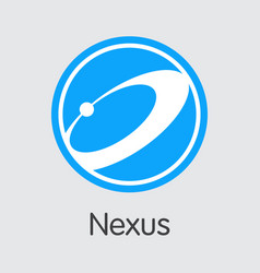 Nexus digital currency - trading sign vector