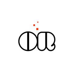 or o r black white red alphabet letter vector image