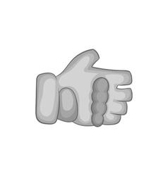 Paintball glove icon black monochrome style vector