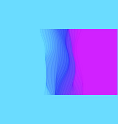 Paper cut abstract background 3d blue and vector