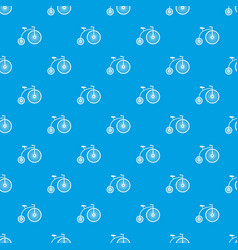 Penny-farthing pattern seamless blue vector