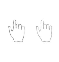 pixel hand grey set icon vector image