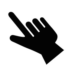 pointer hand index isolated icon vector image
