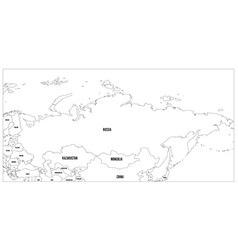 Political map of russia and surrounding countries vector