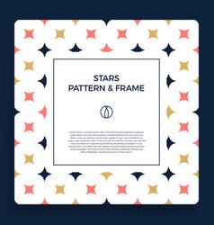 poster banner or card frame border vector image