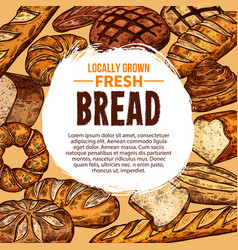 poster with fresh bread vector image