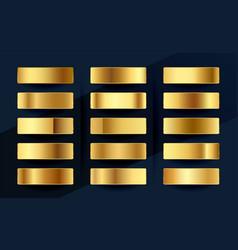 Premium royal golden gradients swatches palette vector