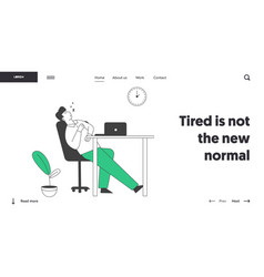 procrastination overwork burnout symptom website vector image