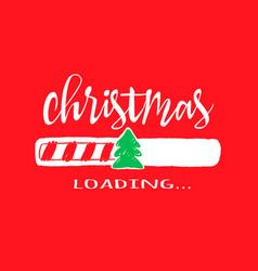 Progress bar with inscription - christmas loading vector