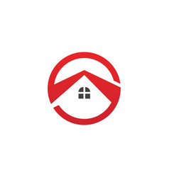 real estate property and construction logo vector image