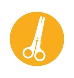 Scissors school supply isolated icon vector