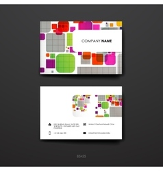Set of Design Business Card Template in abstract vector image