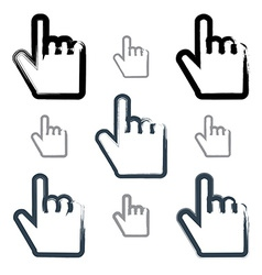 Set of point hand gestures created with real vector image