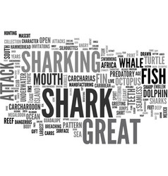 Sharking word cloud concept vector