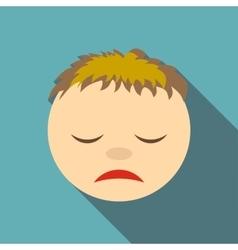 Sleepy icon flat style vector