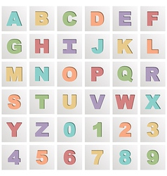 Square alphabet icons vector
