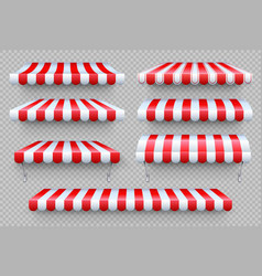 Stripe awning cafe tent shop rocanopy vector