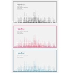 Three sound wave Isolated vector image