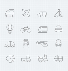 transport thin line symbol icon vector image vector image