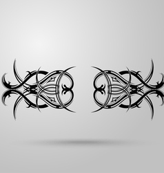 Tribal tattoo on a gray background with shadow vector image