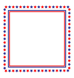 Usa flag symbolism frame border vector