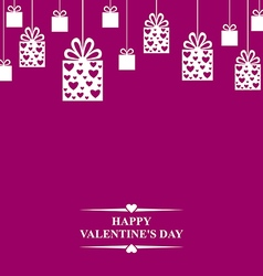 valentine gift hang vector image