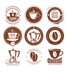 Vintage coffee labels and vector