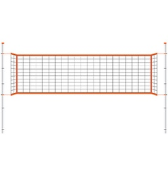Volleyball net vector image