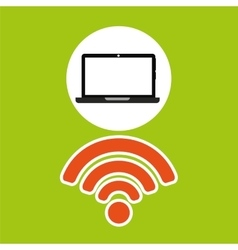 Wifi technology app vector image