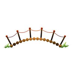 Wood bar bridge icon cartoon style vector
