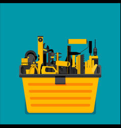 workspace carpenter tools trendy flat icon vector image