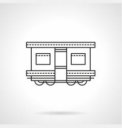 railroad transport flat line icon vector image