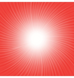 red rays background vector image