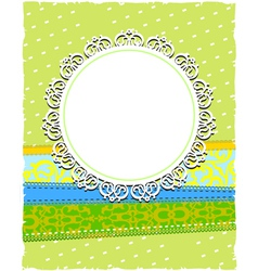 round white ornamental frame vector image