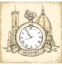The concept of background about the history vector image vector image