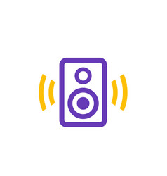 audio speaker icon on white vector image