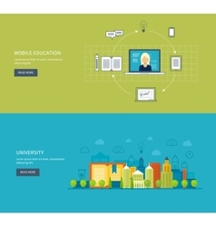 Online education and training vector image